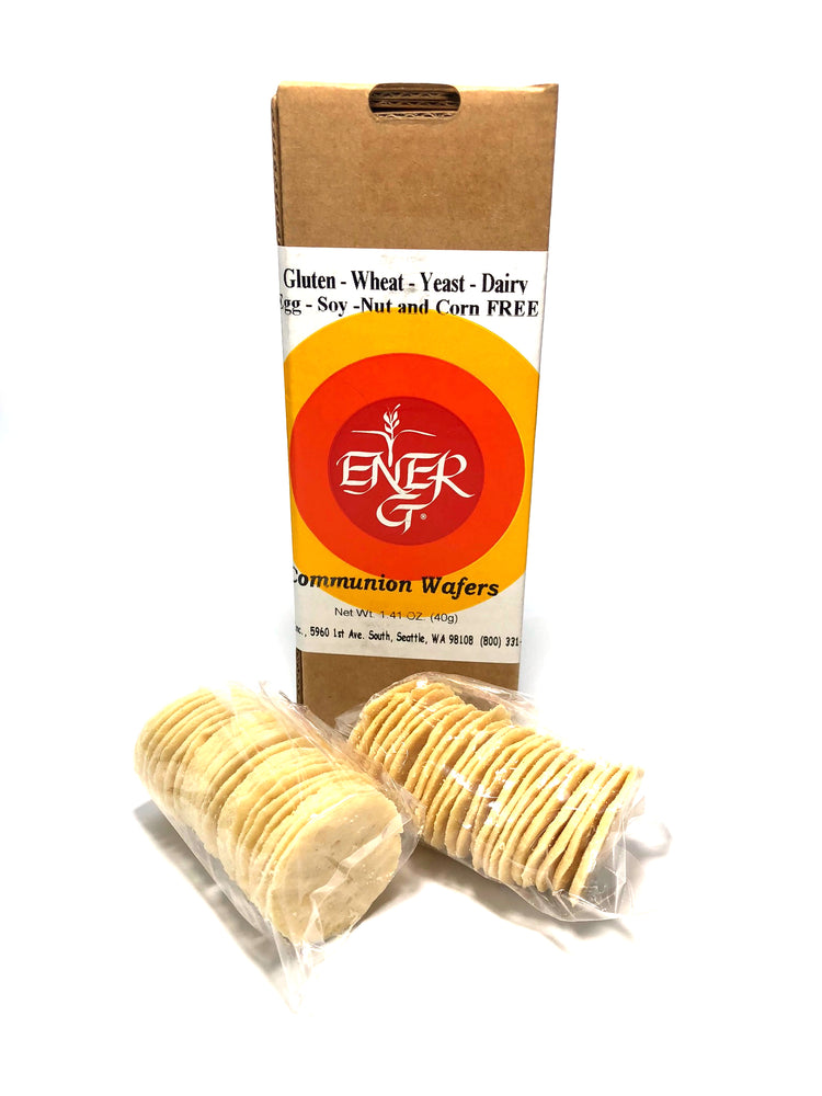 "COMMUNION WAFERS - 1-3/8 "" - GLUTEN FREE - BOX OF 40"