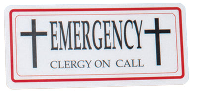 Clergy/Emergency Sign