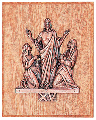"The Resurrection - Antique bronze or 24k Gold Plated - without 8"" X 10"" wood plaques"