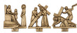 Stations of the Cross - On Oak or Walnut Plaques