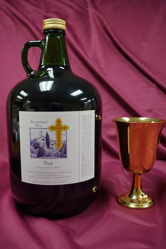 MONASTIC  PORT 4Liter Jugs - Case of 4 Jugs