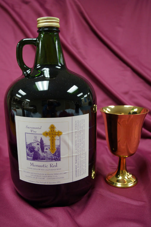 MONASTIC RED 4Liter Jugs - Case of 4 Jugs