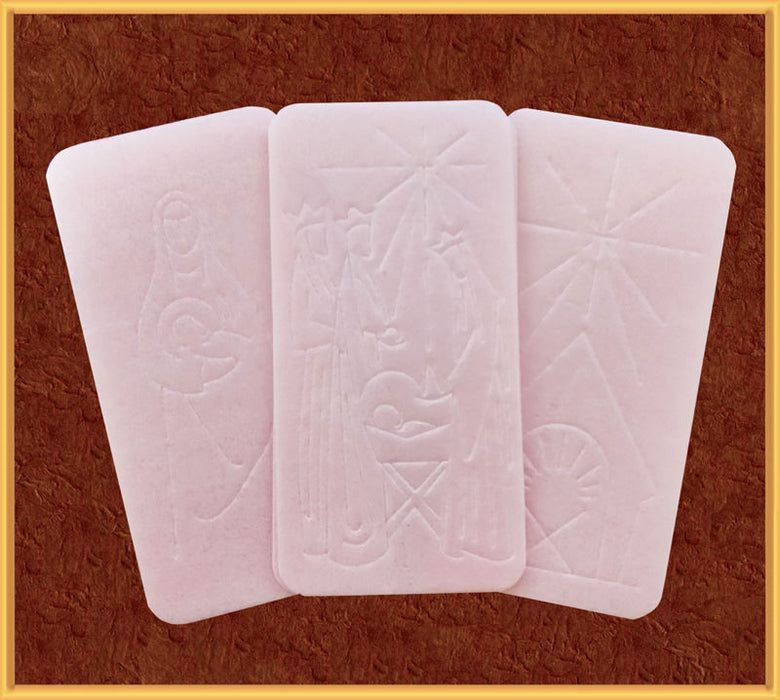 OPLATKI CHRISTMAS WAFERS - PINK - PACKAGE OF 100