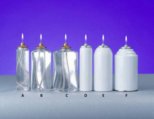 Disposable Oil Burning Candles - Metal - 70 hour - 7024CS
