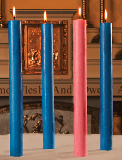 "ADVENT CANDLE SETS - 7/8"" X 12"" - 51%  BEESWAX"