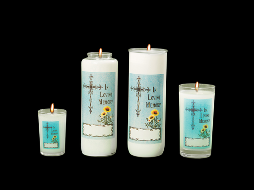 All Soul's Day - In Loving Memory - Inner Lite Glass for 5, 6 or 7 day candles