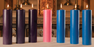 "ADVENT CANDLE SETS - 1-1/2"" X 15"" - 100% BEESWAX HOLLOW CORE"