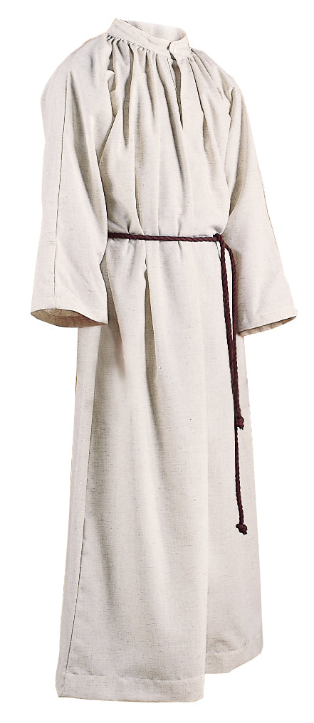 ALTAR SERVER ALB - Style 211 - Natural Flax and polyester blend. Double-ply yoke. NO HOOD. Cinctures sold separately