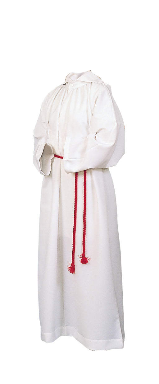 ALTAR SERVER ALB - Style 208 - Deluxe Alb. Medium weight. 100% Polyester. NO HOOD. Cinctures sold separately