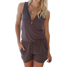 Casual Romper With Zipper