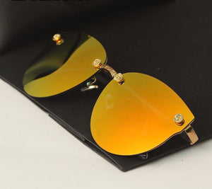 Women Mirror Sun Glasses
