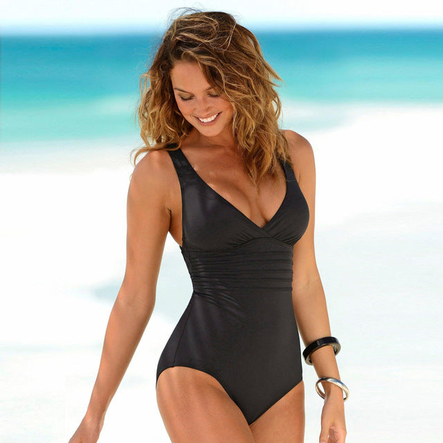 One Piece Swimsuit Retro Style