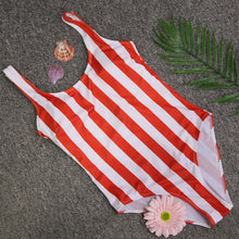 Striped Swimwear One Piece