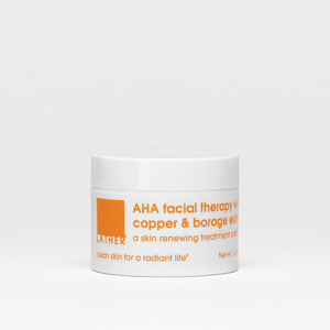 AHA facial therapy with copper & borage extract