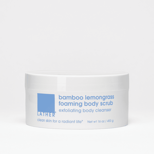Bamboo Lemongrass Foaming Body Scrub 16 ounce product jar