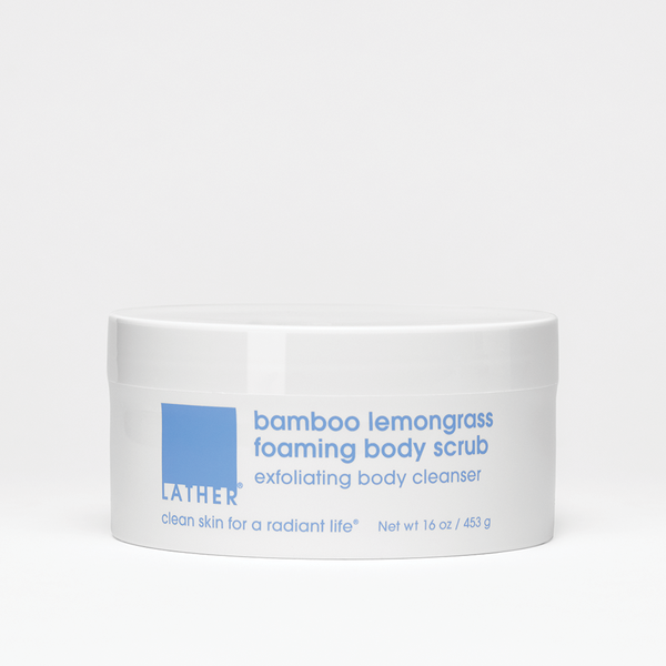 Bamboo lemongrass foaming body scrub Net wt 16 oz