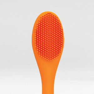 Close up of the silicone bristles of the brush side of the Face Mask Applicator Tool