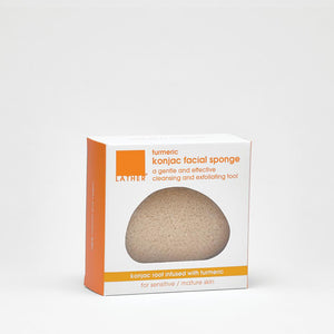 Turmeric Konjac Facial Sponge with box