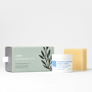 Lemongrass Duo Gift Set - body scrub and soap