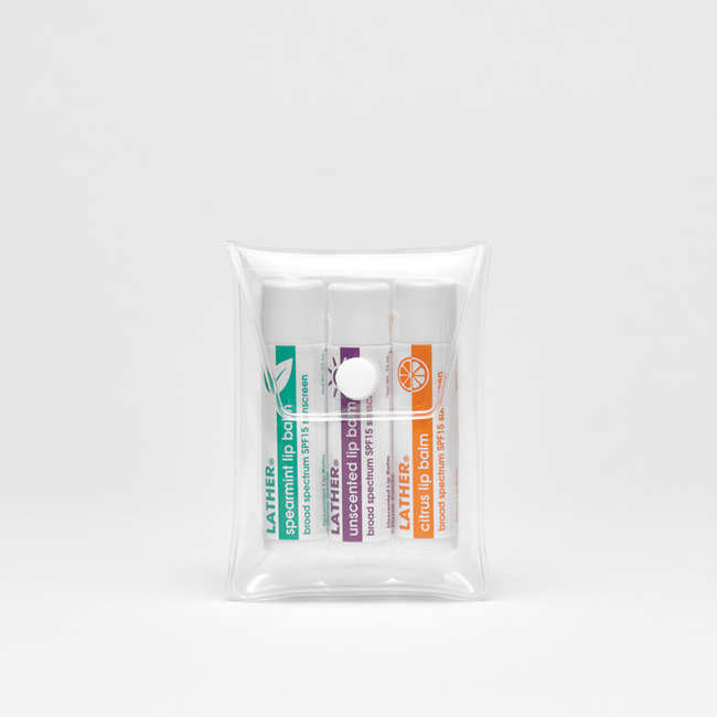 Lip Balm Trio - Broad Spectrum SPF 15
