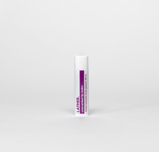 Unscented Lip Balm Mineral Sunscreen Broad Spectrum SPF-15