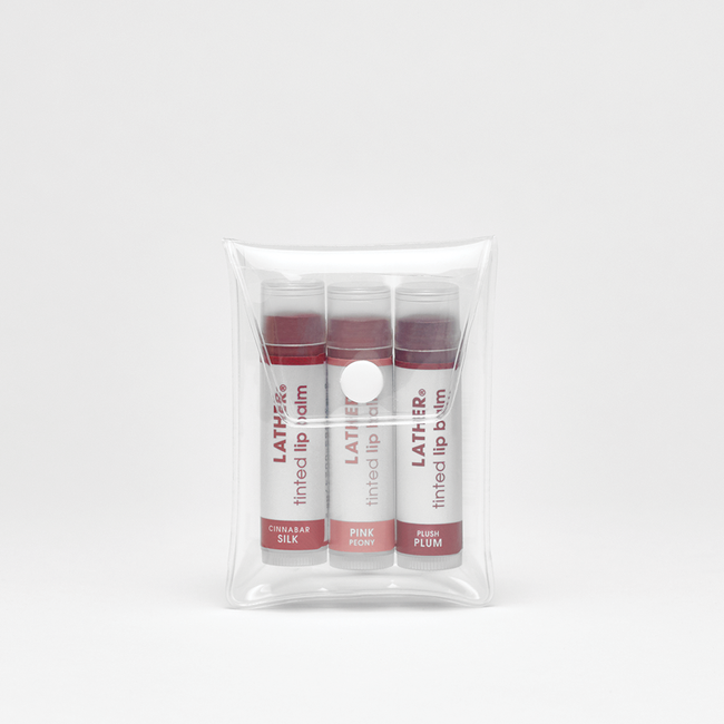 Tinted Lip Balm Trio in bag