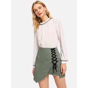 The Army Green Skirt