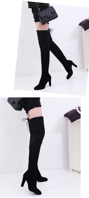 Winter Over Knee High Boots