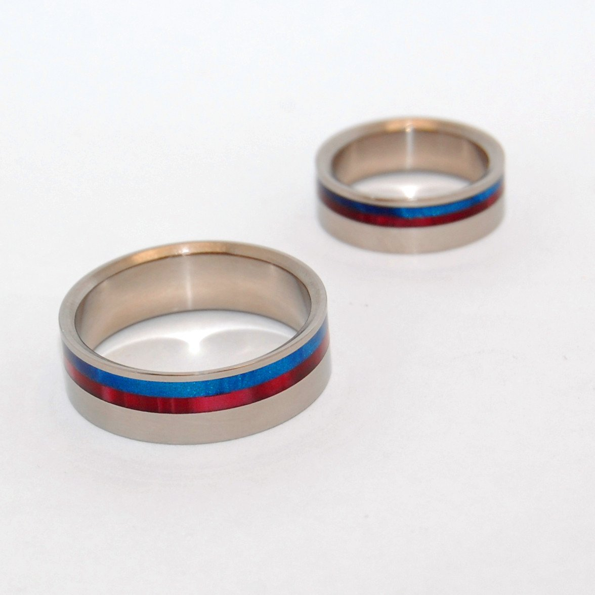 Red and Blue Opalescent Pair