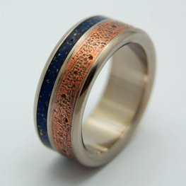 Hammered Copper + Blue Concrete #2
