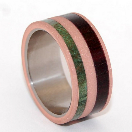 Copper + Green Maple Burl Wood + Cocobolo Wood
