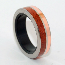Copper + Amboyna Wood + Black Resin