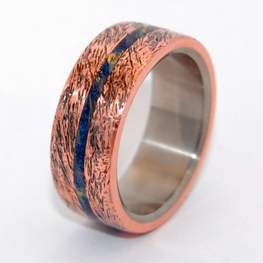 Hammered Copper + Blue Box Elder Wood