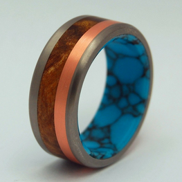 Copper + Desert Ironwood + Turquoise