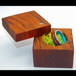 Cocobolo Wood Ring Box