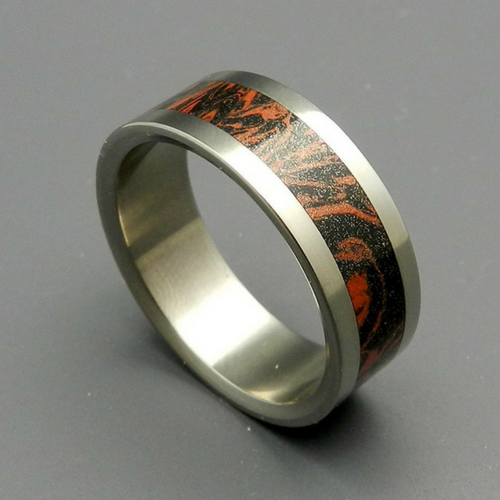 Mokume Gane [Black/Red]