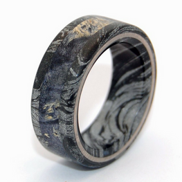 Mokume Gane [Black/Silver] + Black Box Elder Wood