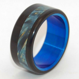 Black Opalescent + Blue Box Elder Wood