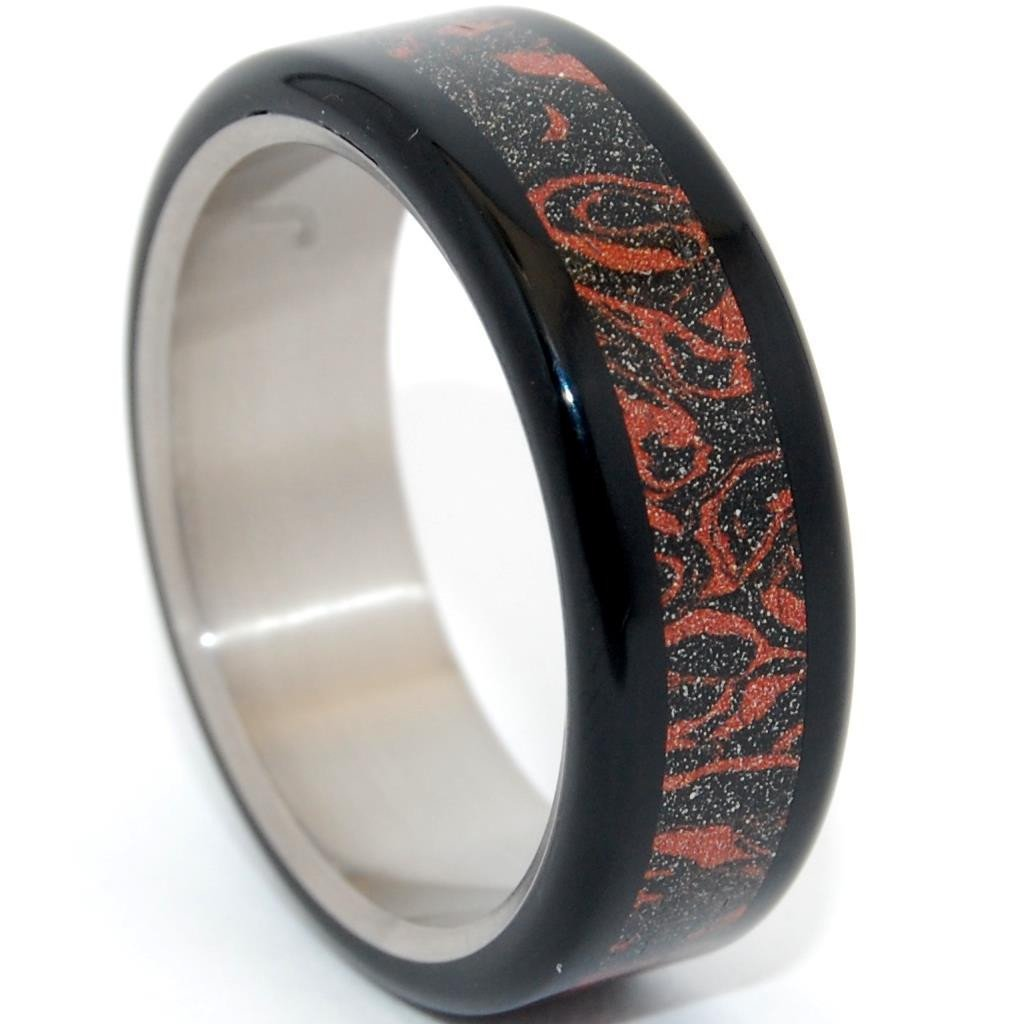 Mokume Gane [Black/Red] + Black Resin