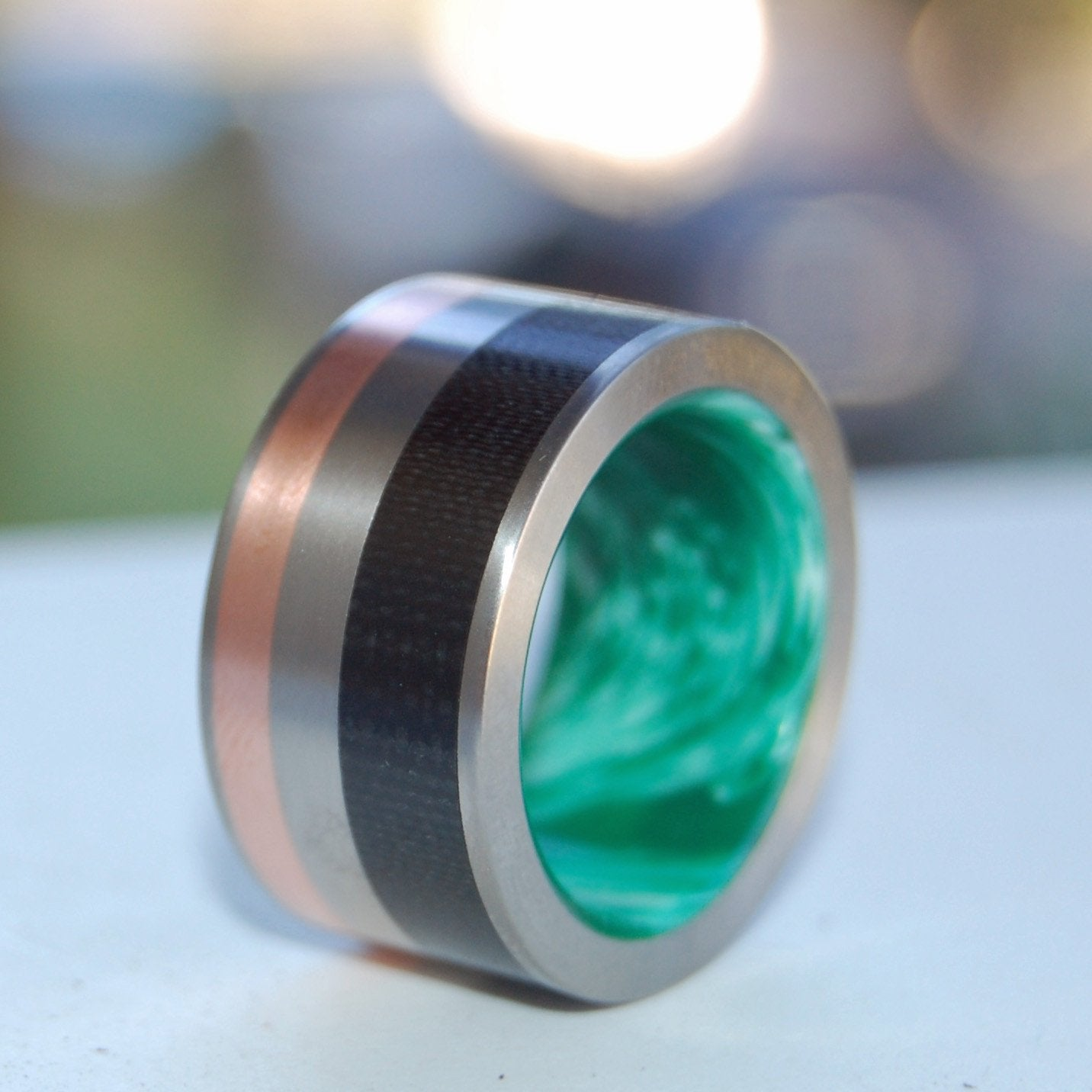 Carbon Fiber + Copper + Green Resin