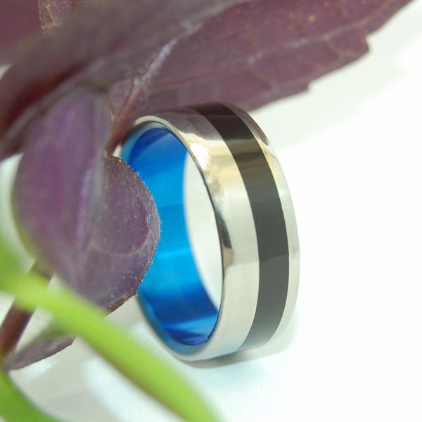 Water Buffalo Horn Offset with Blue #1