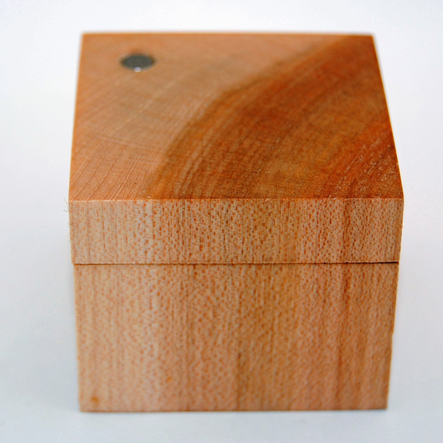Light Maple Wood Ring Box