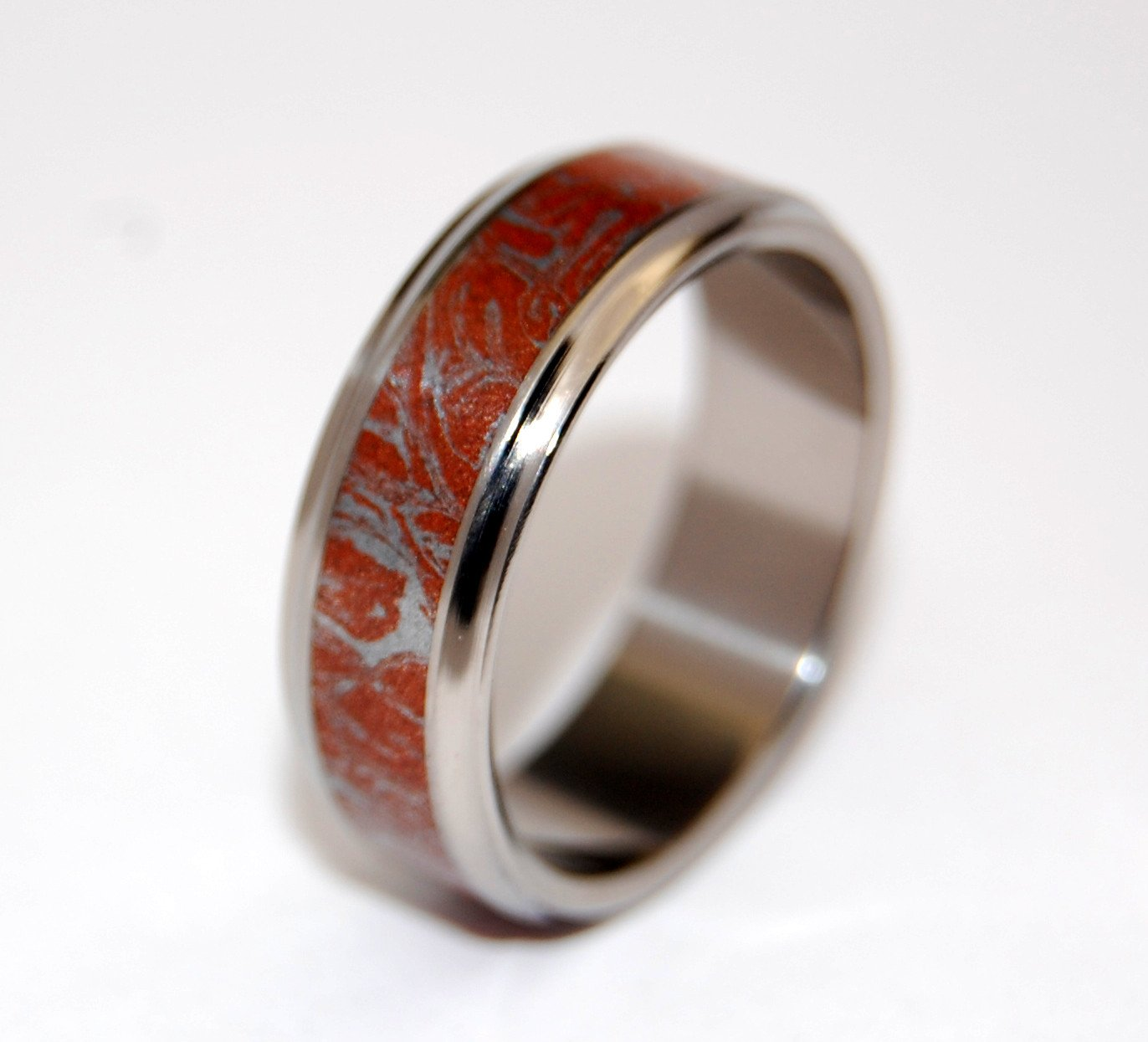 Mokume Gane [Red/Silver] Flared