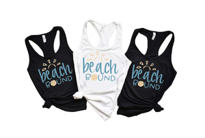 Beach Bound Tank Top - Hot Mess Mom Designs