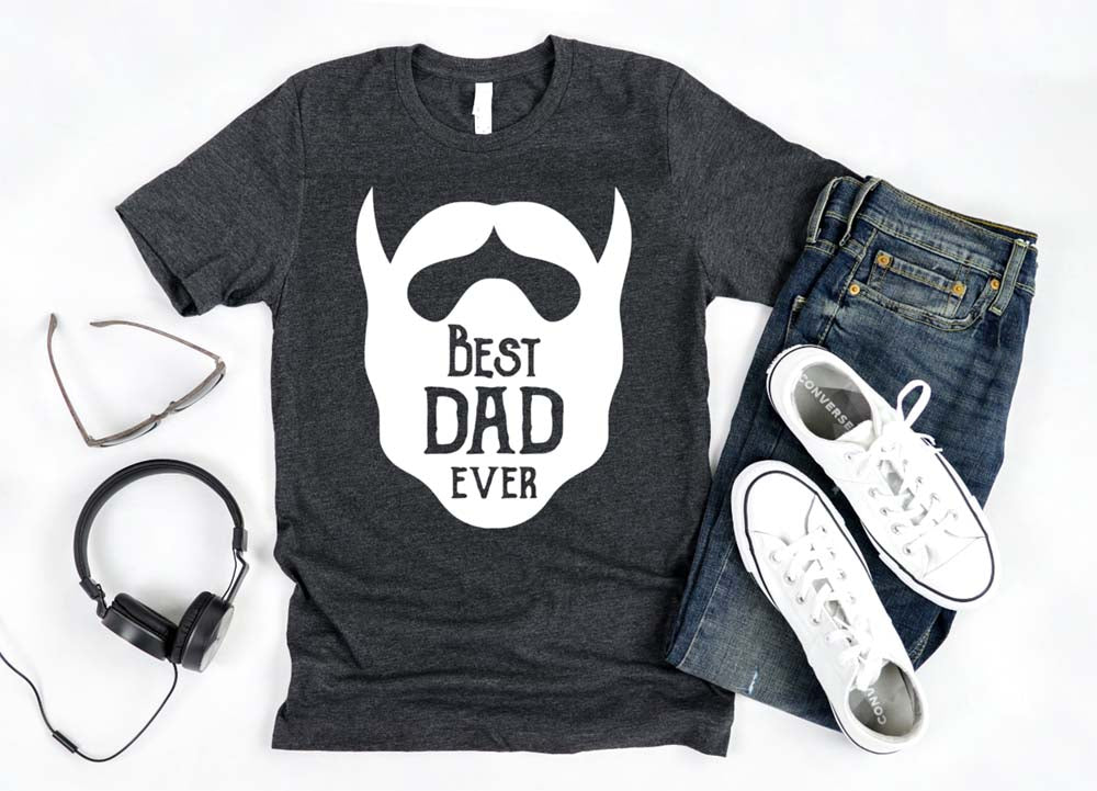 Best Dad Ever Bearded Dad shirt - Hot Mess Mom Designs