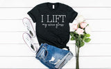 I lift, My Wine Glass - Hot Mess Mom Designs