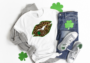 Irish Kiss Lips - funny shirts for women at Hot Mess Mom Designs