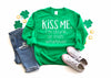 Kisss Me Im Drunk or Irish Sweatshirt - Hot Mess Mom Designs