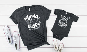 Mama Shark/ Little Shark Mommy and Me Shirts - Hot Mess Mom Designs