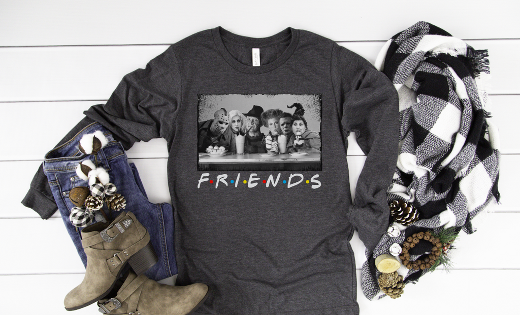Hocus Pocus Friends Long Sleeve - Hot Mess Mom Designs